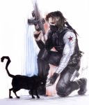 Winter Cat and Bucky by Adayka