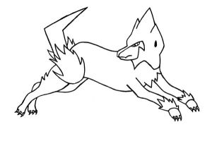 FREE Manectric Lineart