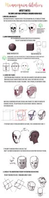 My notes on drawing head by mannequin-atelier