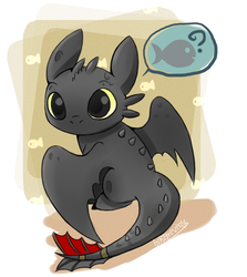 Toothless by hikariviny