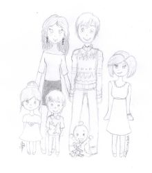 Famille a Noel - Collaboration avec NijiHoshi-Oly by IsoleCimeleh