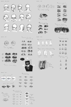 Sketchdump June 2015 [face anatomy] by DamaiMikaz