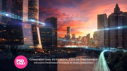 Exclusive Tutorial - Constructing Futuristic City by MariaSemelevich