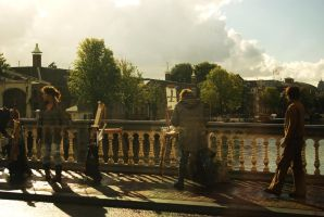 Artists on the bridge by steppeland