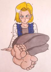 Android 18's feet by Lord-MightyF