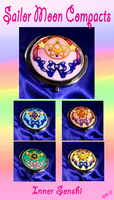 Sailor Moon Compacts- Inners by pinkplaidrobot