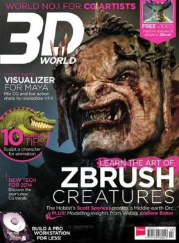 3D World Magazine cover Art Febuary 2014 by MadeleineSpencer