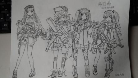 Girl's frontline, 404 squad by sunung0317