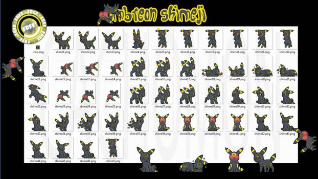 Umbreon Shimeji +FREE+ by Cachomon
