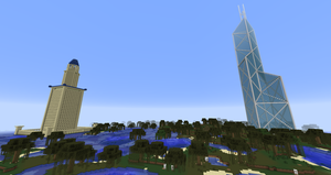 Minecraft - BOC Tower and Lighthouse of Alexandria by MinecraftArchitect90