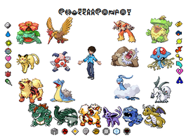 Chuggaaconroy Sprite and team by ScornYakushi
