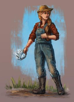 The Farmer Girl with a Crown by Alassa