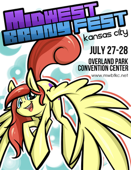 Midwest Brony Fest poster by RCR-Lemontwist