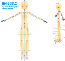 MMD- Bone Set.2 -DL by MMDFakewings18