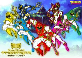 Kami Sentai TENSHINGER wallpaper version by thunderyo