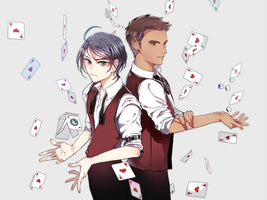 Michele and Seung-gil Casino Dealer au by wish114