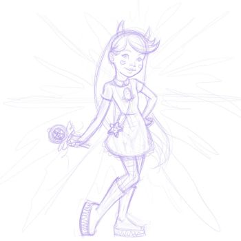 Star Butterfly Patreon Sketch by Nortedesigns