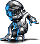 [Blender] Metal Mario's Melee Trophy Pose by MaxiGamer