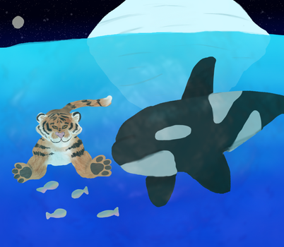 Tiger and Orca Request by MorikoRaion
