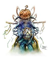 Pumpkin Scarecrow colored. by Nezart