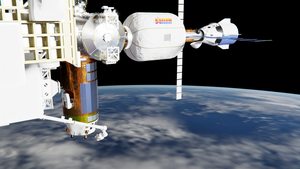 B330 XBASE at International Space Station by brickmack