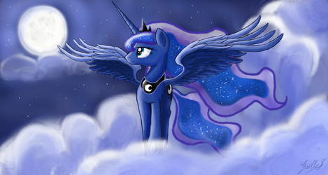 Princess Luna: walk with the moon by GaelleDragons