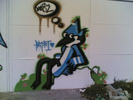 Mordecai Graffiti by PanzerKnacker73