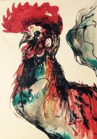 :ACEO: Fancy Chicken by CharlesDW