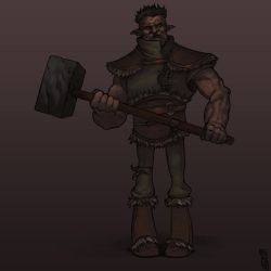 Hammer troll [Character design] by GiovaBellofatto