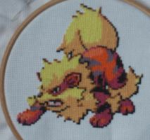 Arcanine Cross-stitch by Magairlin89