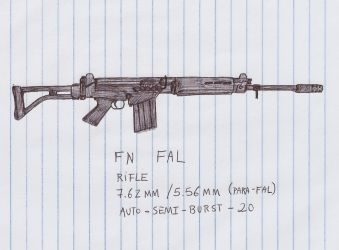 FN FAL Assault Rifle - Scan by MarcosWerewolf