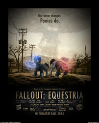 Fallout Equestria Movie Poster Concept by OliveBranchMLP