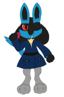 Cal the Lucario Jewel Thief by Unownace