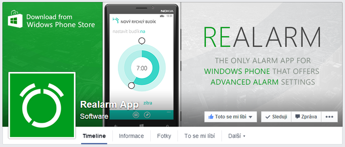 Realarm App - FB page by Ingnition