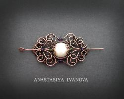 hair clip with pearl by nastya-iv83