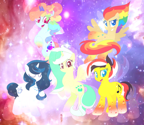 My mane 5(Rainbow powered) by Crystal-BloomYT