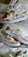 Snow white shoes by pinkbutterflyofdeath