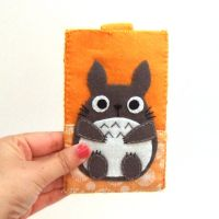 So orange totoro phone case by yael360