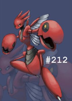 Request: Scizor #212 by Sket-Chee