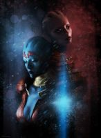 ME2: Samara and Morinth by Spiritius