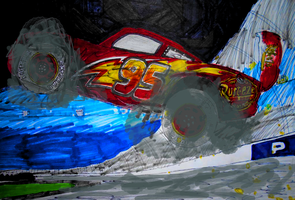 Cars 3 Lightning McQueen's crash (2.0) by sgtjack2016