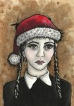 Wednesday Addams Christmas Parody