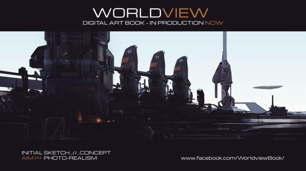 WORLDVIEW Initial Sketch - Photo-Real Test by JamesLedgerConcepts