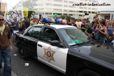 american police car on pride by creativeIntoxication