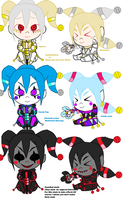 Candy Pop  and Candy cane  Chibi sides by GrimaceJester