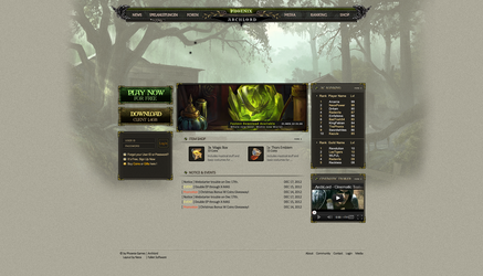 Phoenix Games | Archlord Homepage by MrPaprikat