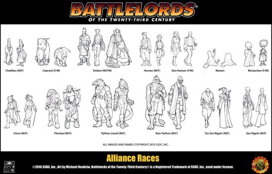 Battlelords Alliance Races by Battlelords