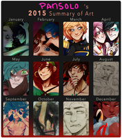 2015 Summary of Art by ScaredPrince