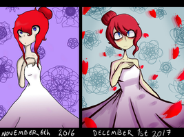 2017 improvement challenge-Flower girl by NightmareTilda
