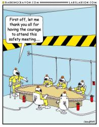 Safety Meeting Cartoon. by Conservatoons